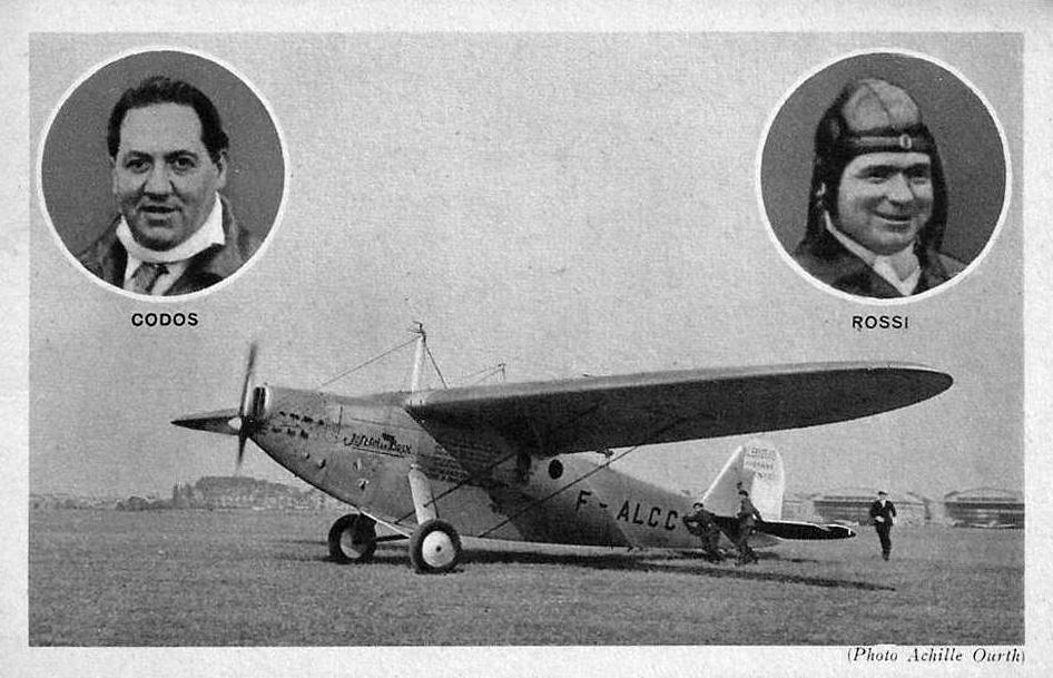 Le Blériot Zappata 110, Codos et Rossi